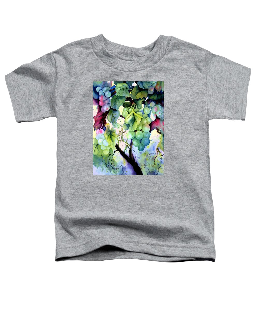 Grapes Toddler T-Shirt featuring the painting Grapes II by Karen Stark