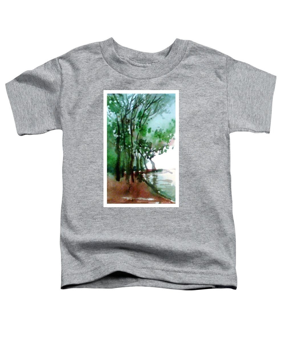 Water Color Toddler T-Shirt featuring the painting Greens by Anil Nene
