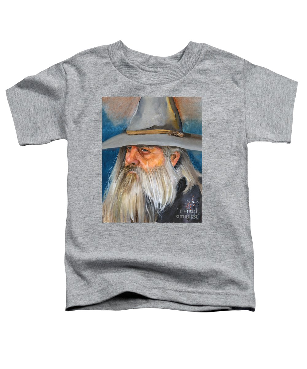 Wizard Toddler T-Shirt featuring the painting Grey Days by J W Baker