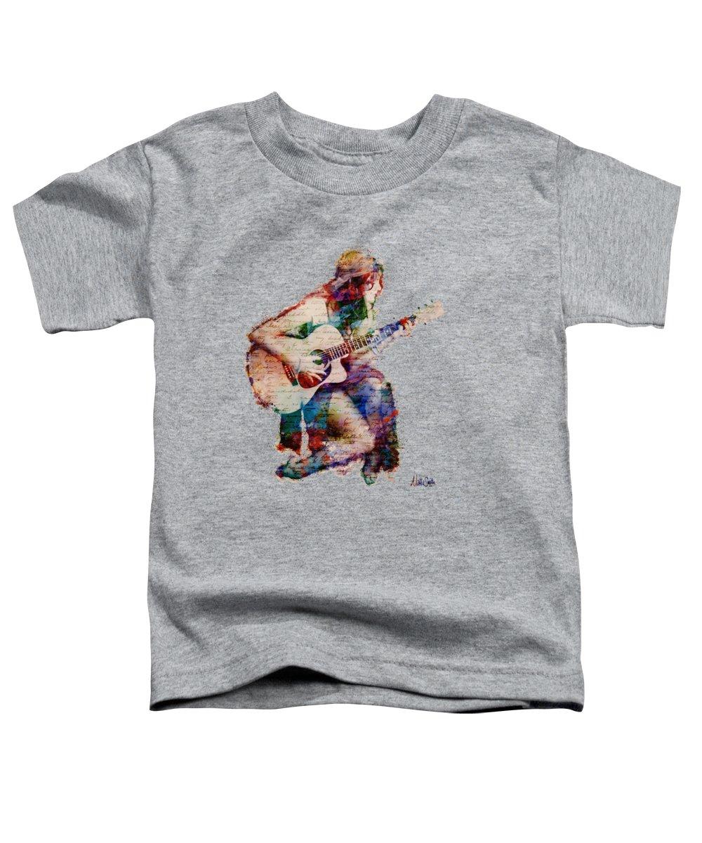Gypsy Toddler T-Shirt featuring the digital art Gypsy Serenade by Nikki Smith