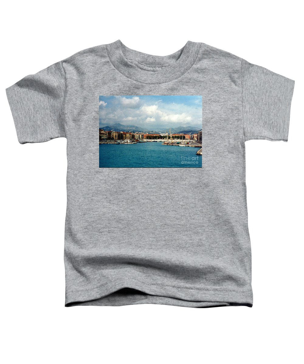 Landscape Toddler T-Shirt featuring the photograph Harbor Scene In Nice France by Nancy Mueller