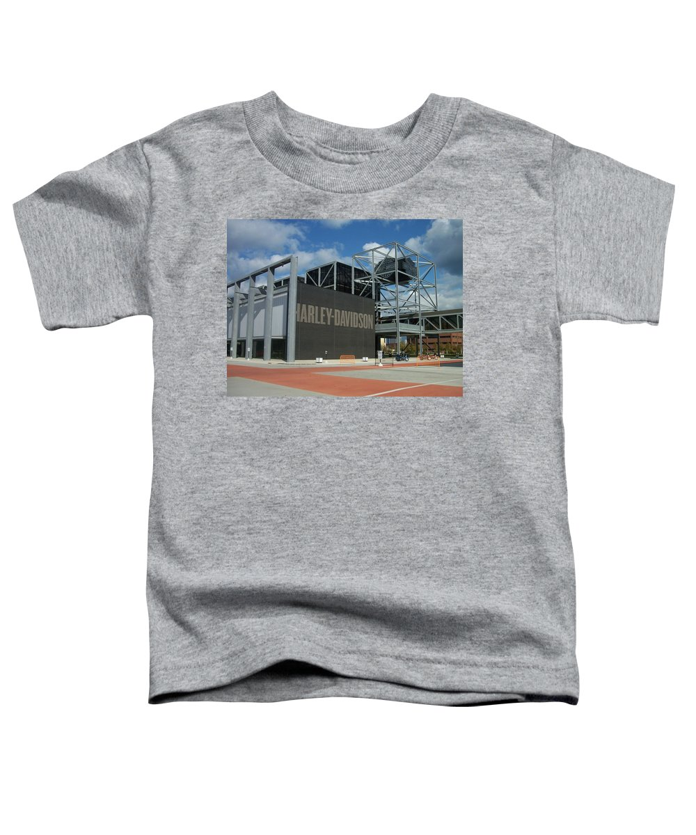 Toddler T-Shirt featuring the photograph Harley Museum by Anita Burgermeister