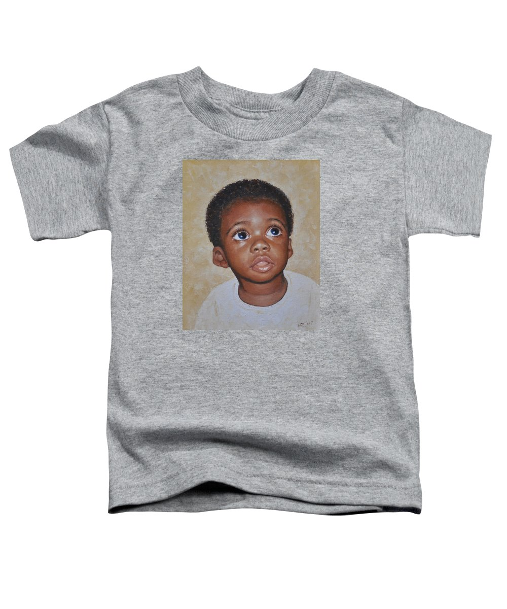 Portaits Toddler T-Shirt featuring the painting He Is Coming by Iliyan Bozhanov