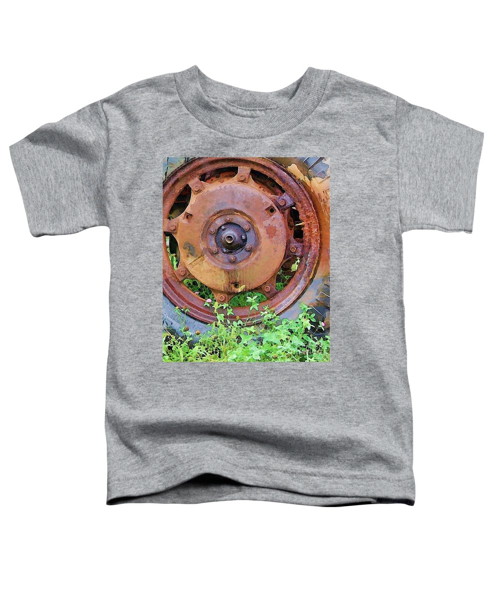 Rust Toddler T-Shirt featuring the photograph Heavy Metal by Debbi Granruth