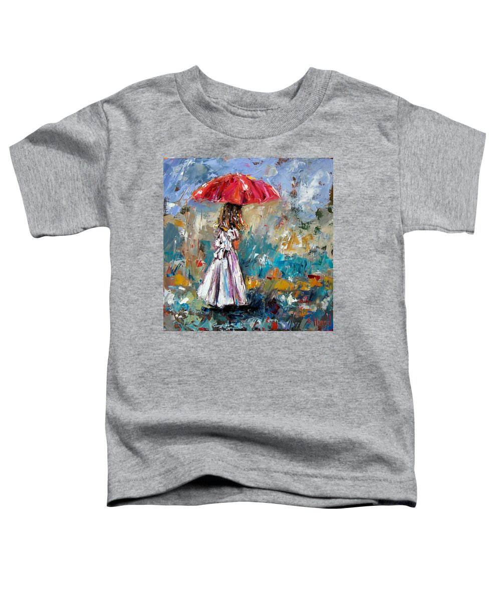 Children Art Toddler T-Shirt featuring the painting Her White Dress by Debra Hurd