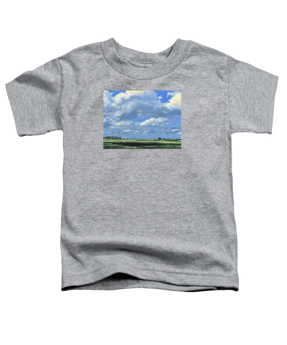 Landscape Toddler T-Shirt featuring the painting High Summer by Bruce Morrison