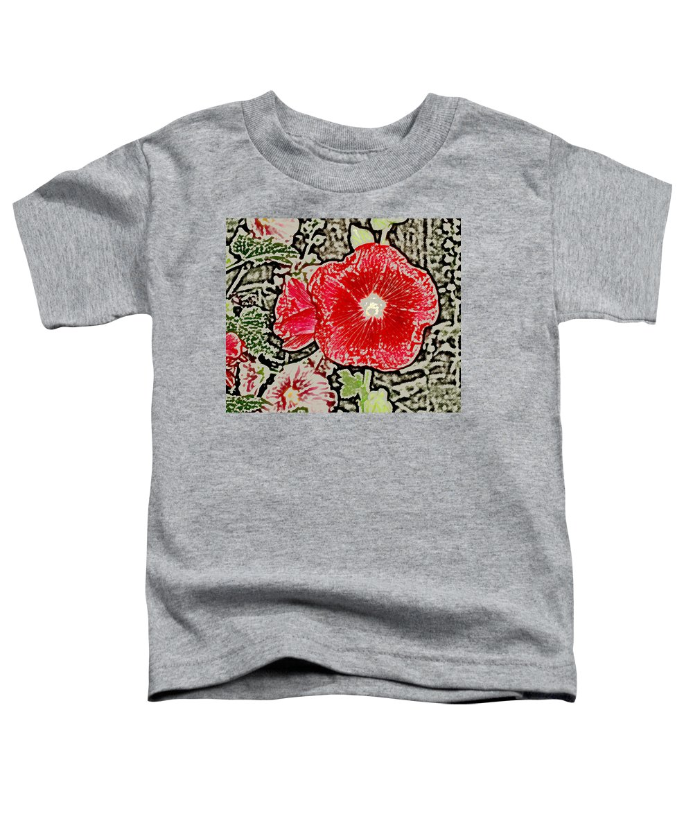 Flower Toddler T-Shirt featuring the photograph Hollyhock by Wayne Potrafka