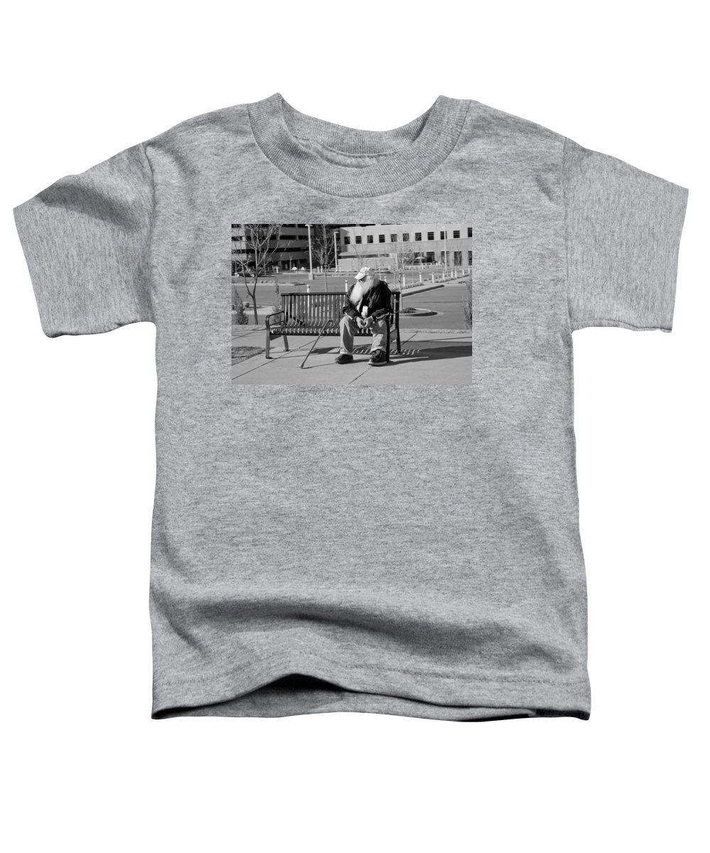 Portrait Toddler T-Shirt featuring the photograph Homeless Man by Angus Hooper Iii