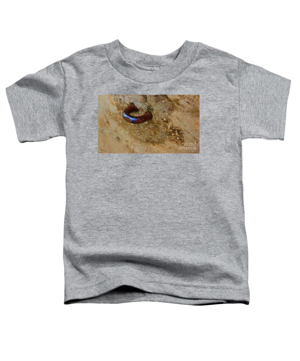 Concrete Toddler T-Shirt featuring the photograph Hooked by Debbi Granruth