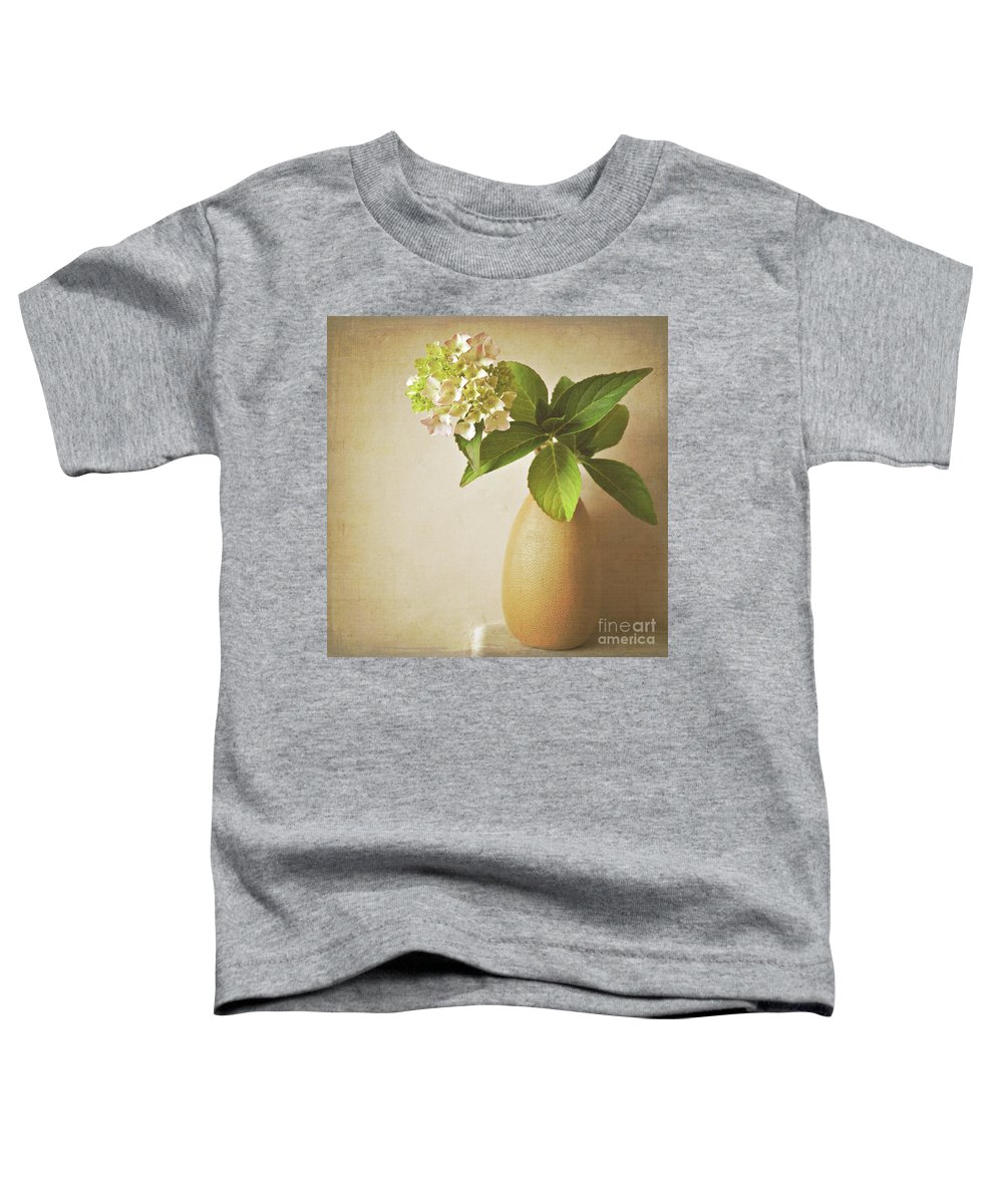 Hydrangea Toddler T-Shirt featuring the photograph Hydrangea With Leaves by Lyn Randle