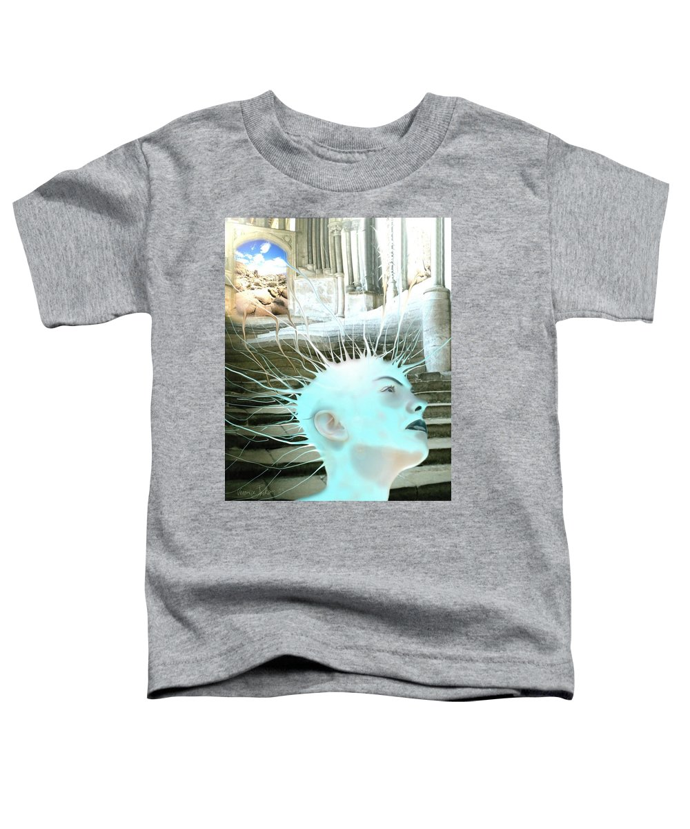Thoughts Stairs Energy Space Toddler T-Shirt featuring the digital art I by Veronica Jackson