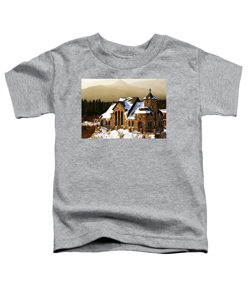 Americana Toddler T-Shirt featuring the photograph Icicles by Marilyn Hunt