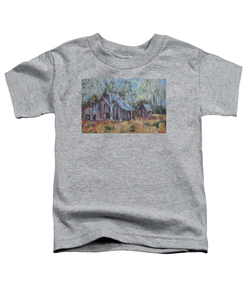 Barns Toddler T-Shirt featuring the painting If They Could Speak by Ginger Concepcion