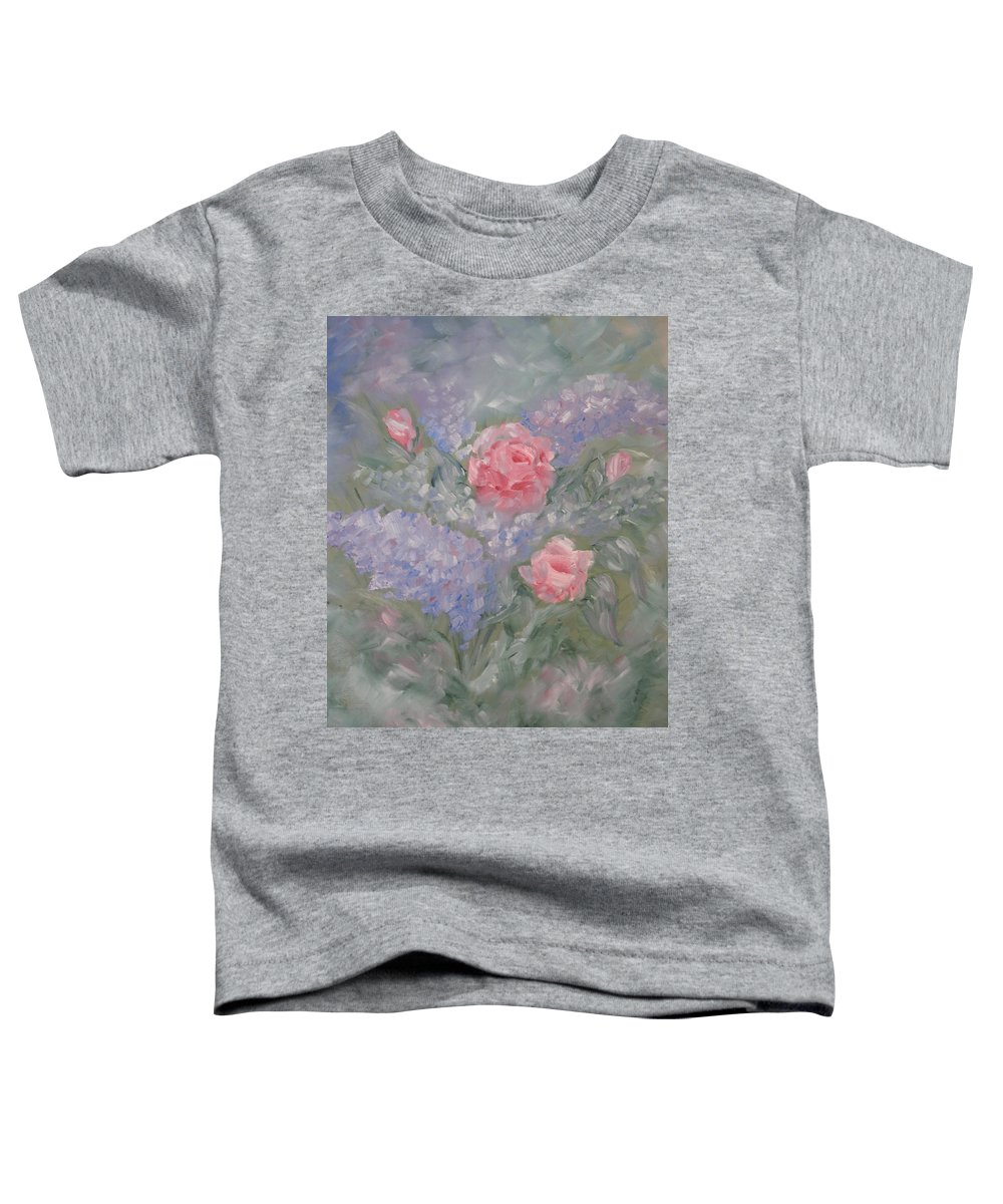 Flowers Toddler T-Shirt featuring the painting In Bloom by Carrie Mayotte