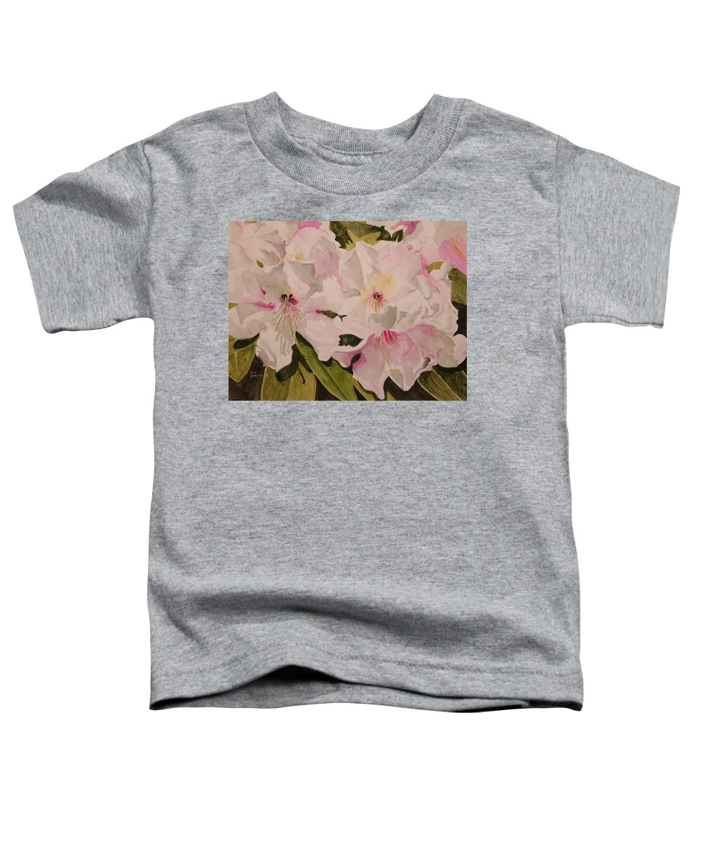 Pink Toddler T-Shirt featuring the painting In The Pink by Jean Blackmer