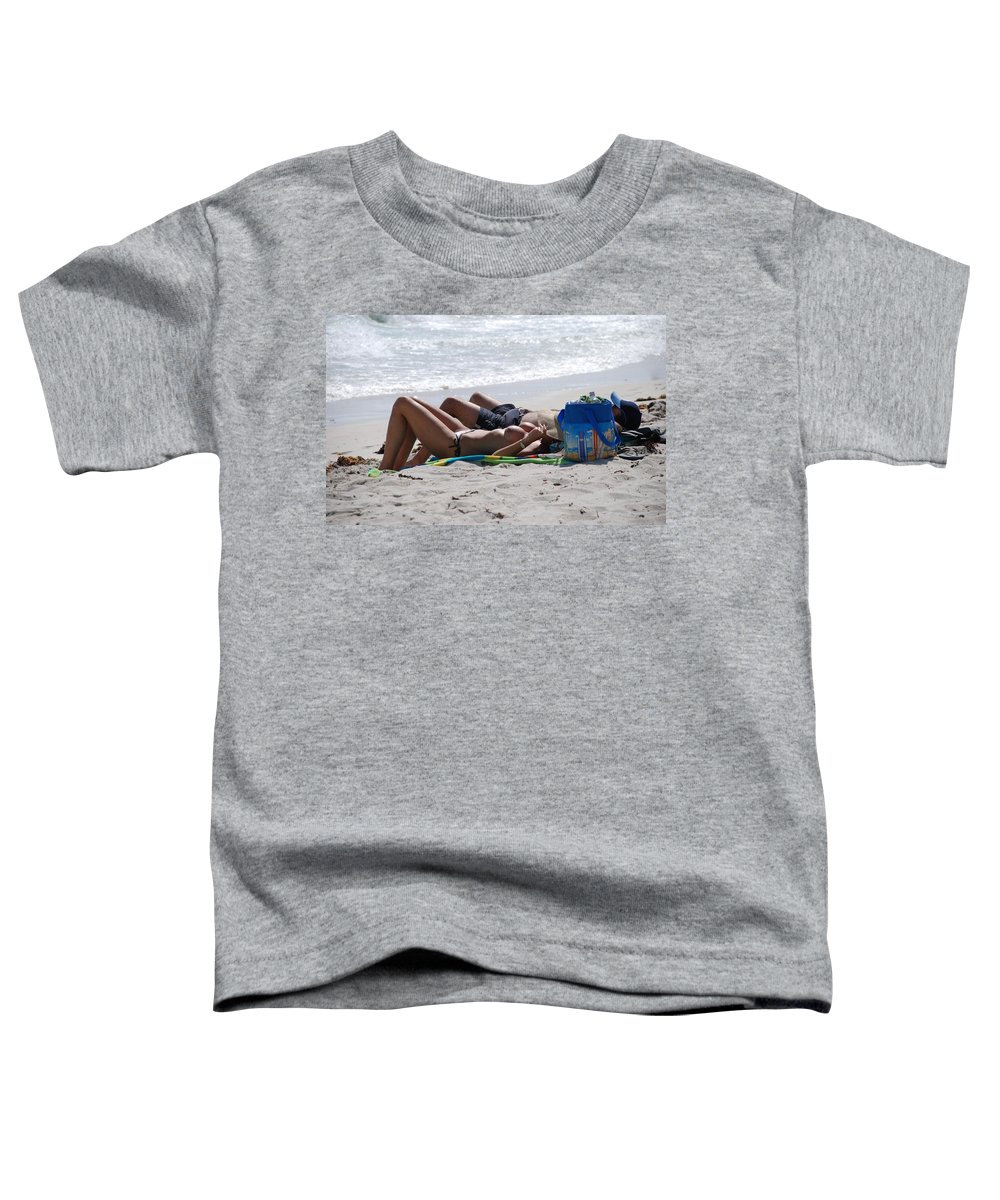 Nude Toddler T-Shirt featuring the photograph In The Sand At Paradise Beach by Rob Hans