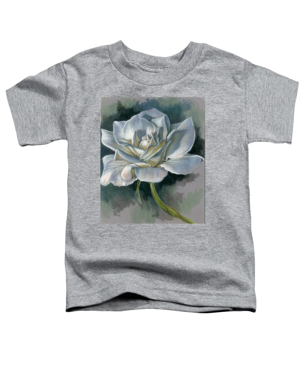 Rose Toddler T-Shirt featuring the mixed media Innocence by Barbara Keith