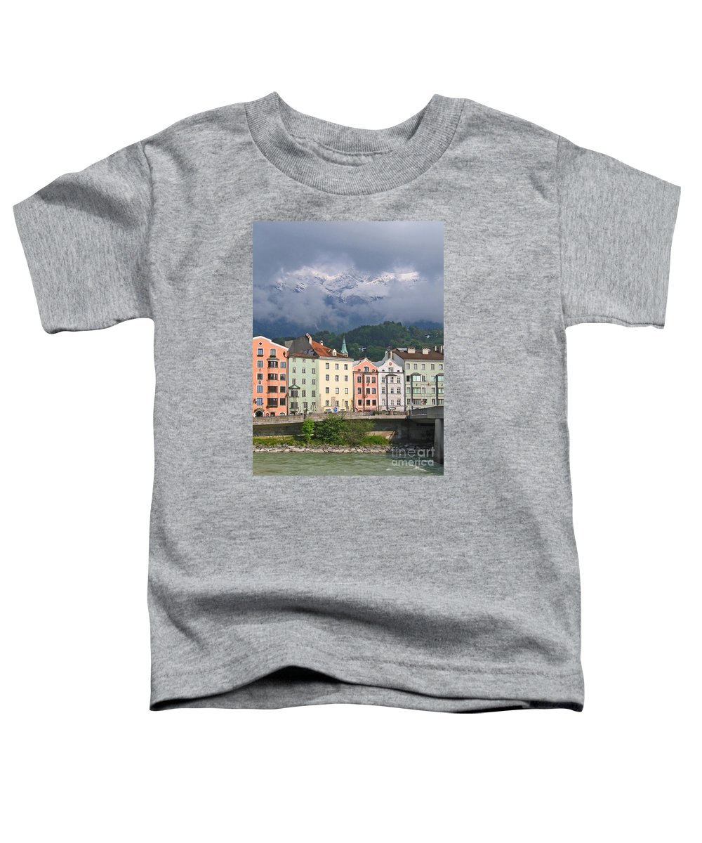 Innsbruck Toddler T-Shirt featuring the photograph Innsbruck by Ann Horn