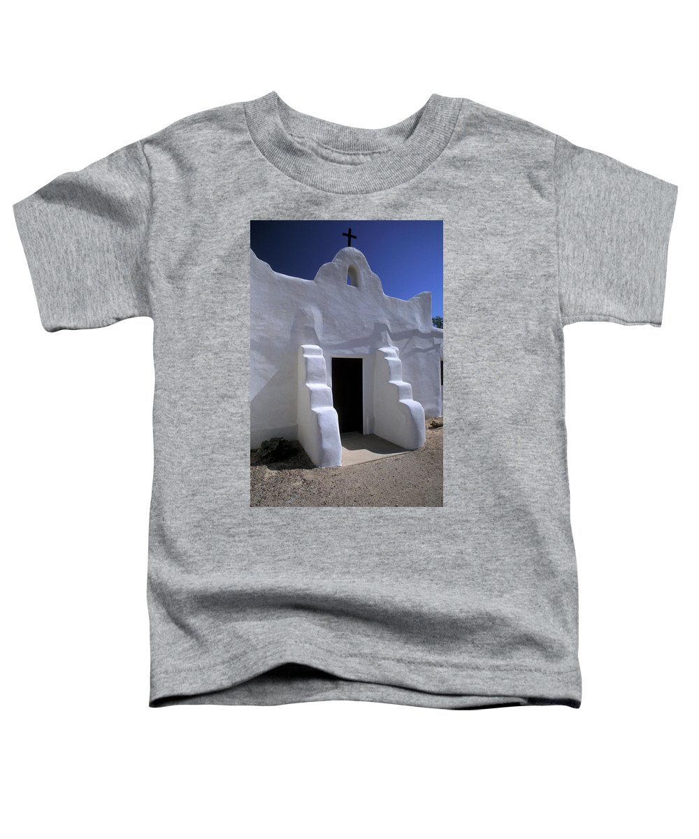 Adobe Toddler T-Shirt featuring the photograph Isleta by Jerry McElroy