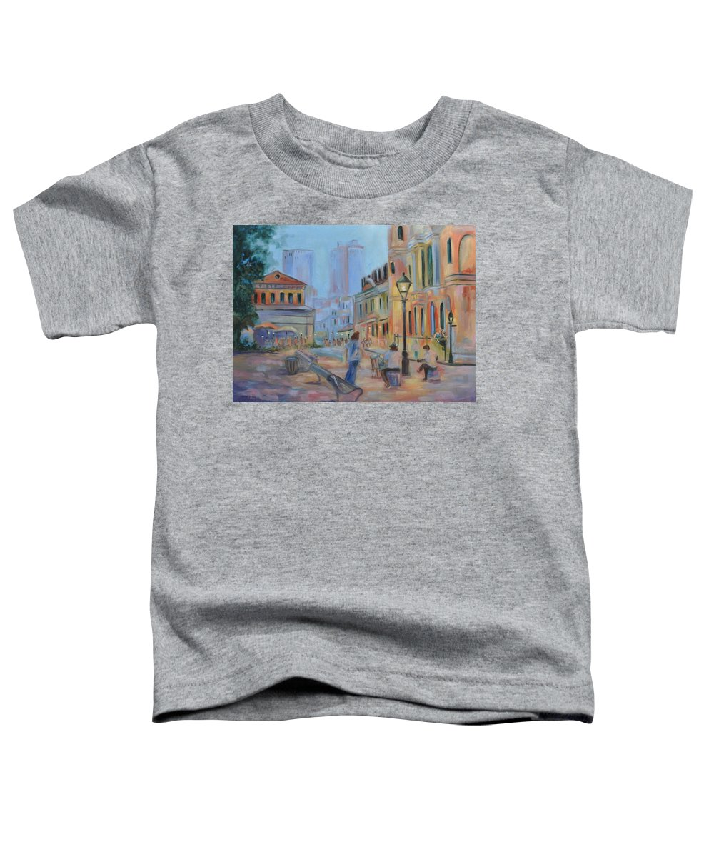 New Orleans Toddler T-Shirt featuring the painting Jackson Square Musicians by Ginger Concepcion