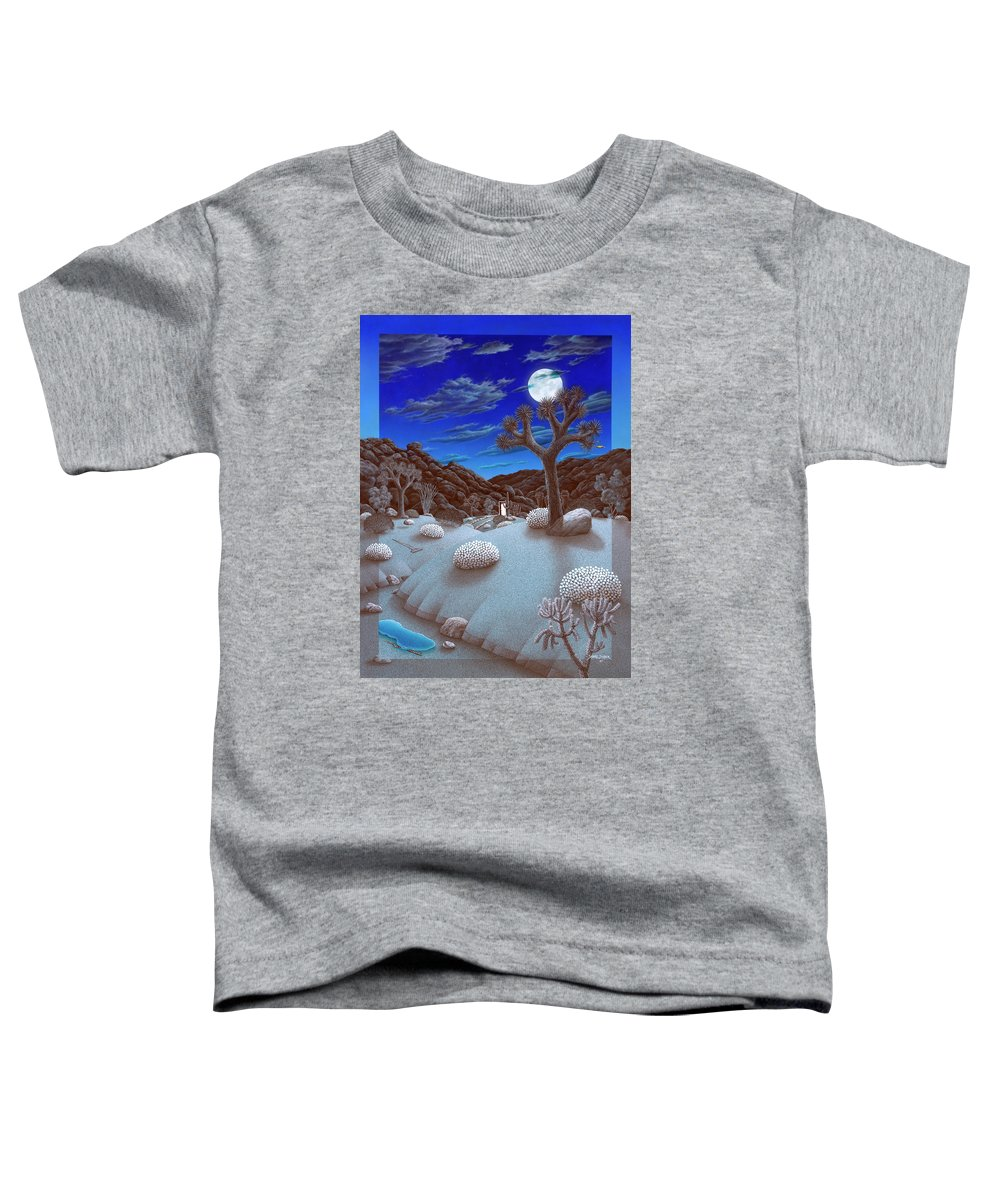 Landscape Toddler T-Shirt featuring the painting Joshua Tree At Night by Snake Jagger