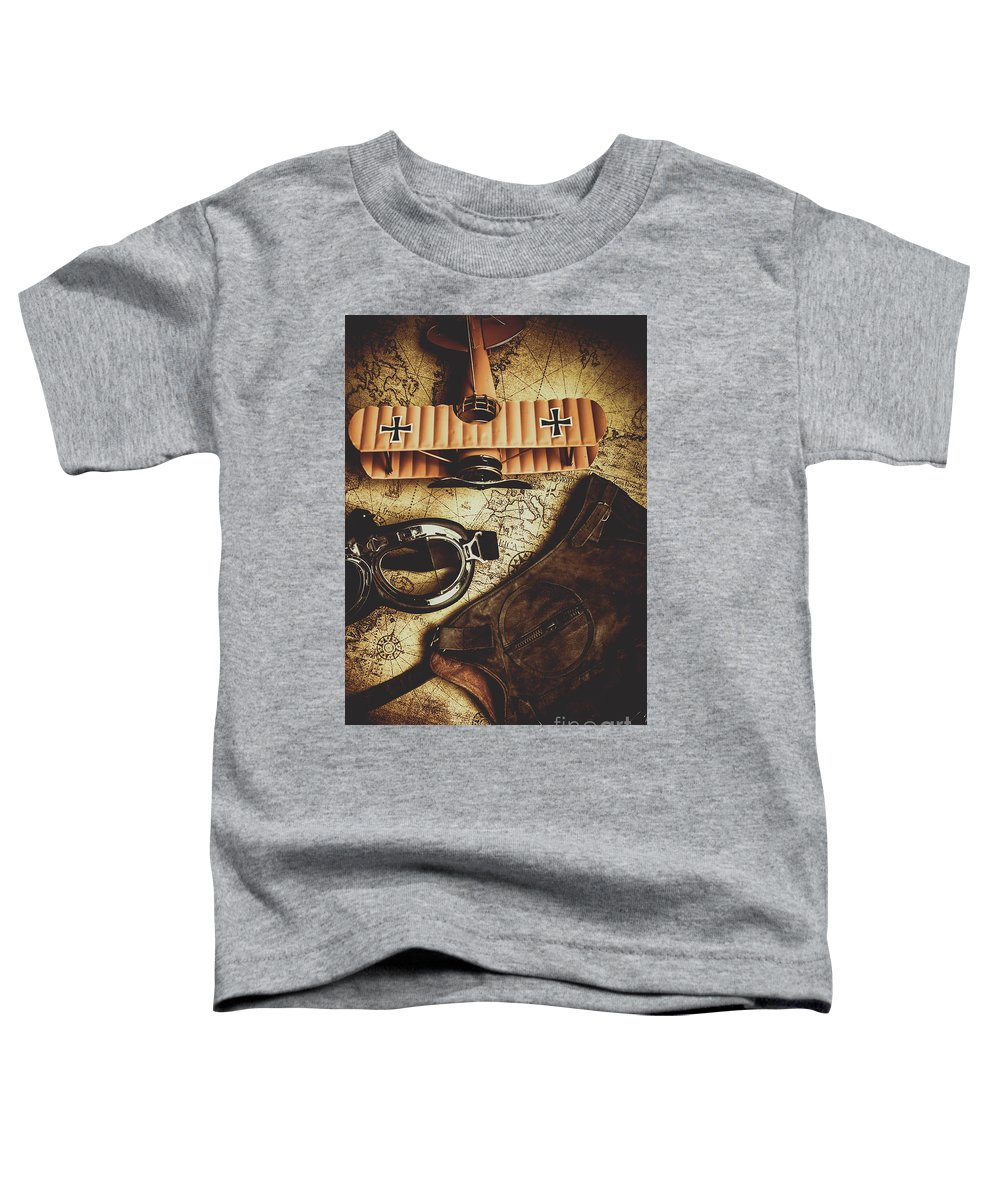 Pilot Toddler T-Shirt featuring the photograph Journey Of An Antique Pilot by Jorgo Photography - Wall Art Gallery