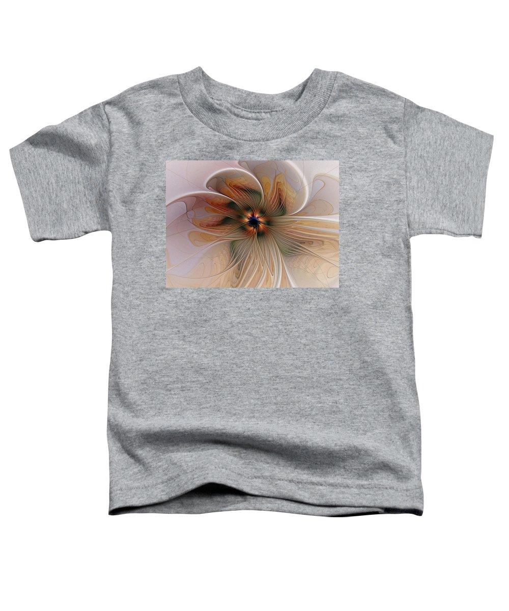 Digital Art Toddler T-Shirt featuring the digital art Just Peachy by Amanda Moore