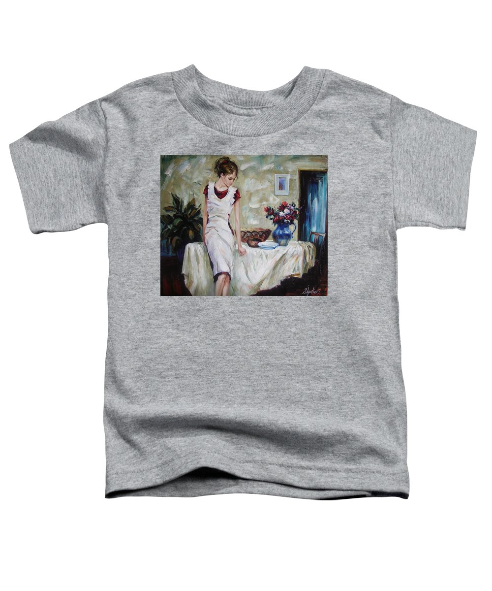 Figurative Toddler T-Shirt featuring the painting Just The Next Day by Sergey Ignatenko