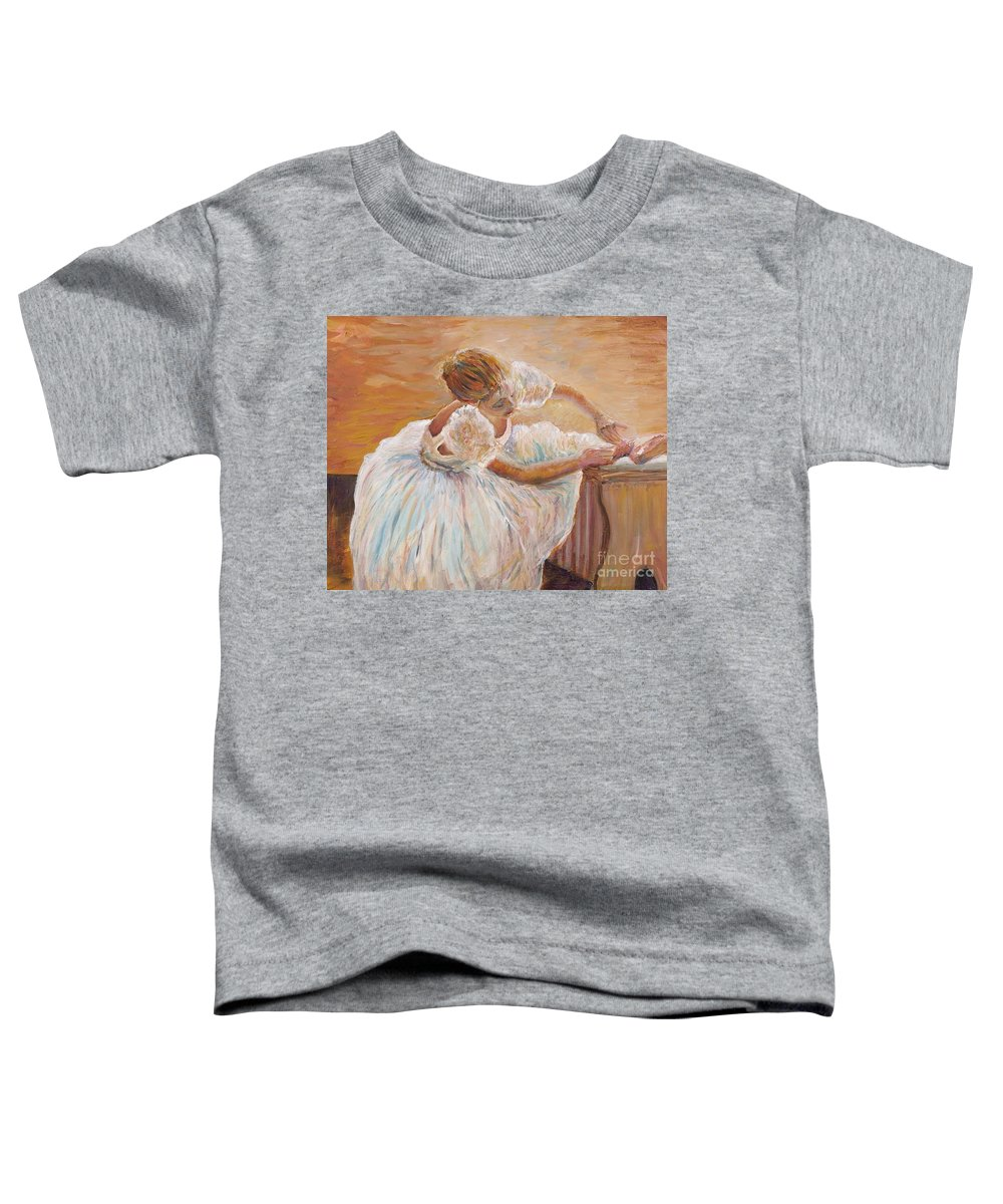 Dancer Toddler T-Shirt featuring the painting Kaylea by Nadine Rippelmeyer