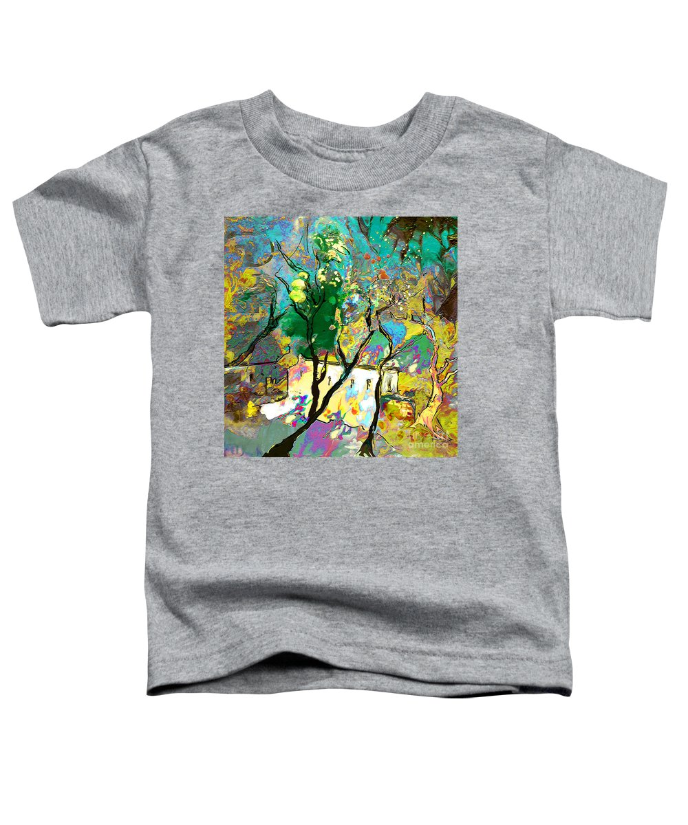 Miki Toddler T-Shirt featuring the painting La Provence 16 by Miki De Goodaboom