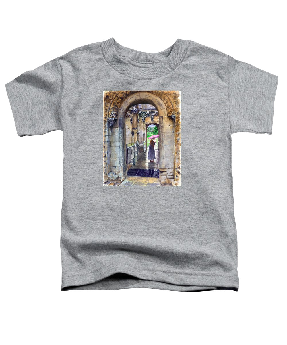 Glastonbury Toddler T-Shirt featuring the painting Lady Chapel by John D Benson