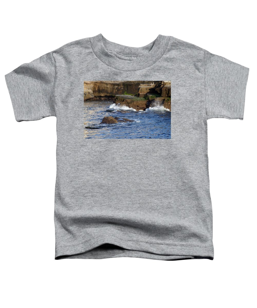 Ocean Toddler T-Shirt featuring the photograph Lajolla Rocks by Margie Wildblood