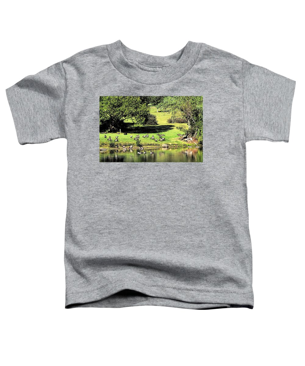 Bird Toddler T-Shirt featuring the photograph Last Days Of Summer by Gaby Swanson
