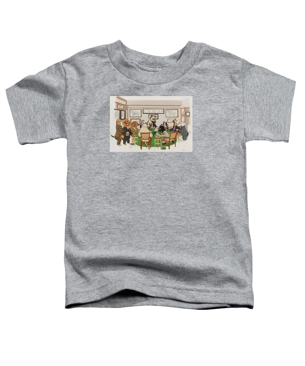 Poker Toddler T-Shirt featuring the painting Lexington Club by Constance Depler Coleman