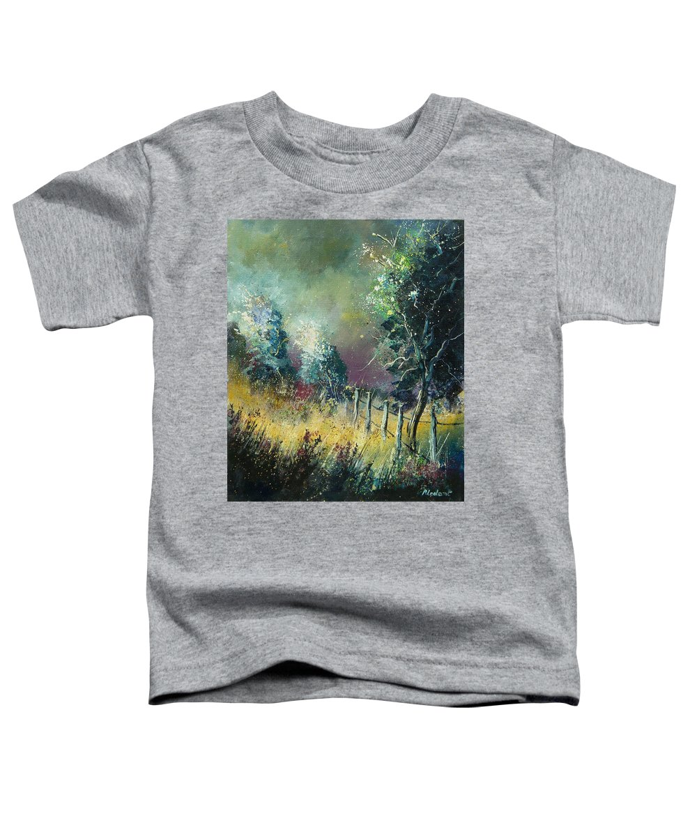 Landscape Toddler T-Shirt featuring the painting Light On Trees by Pol Ledent
