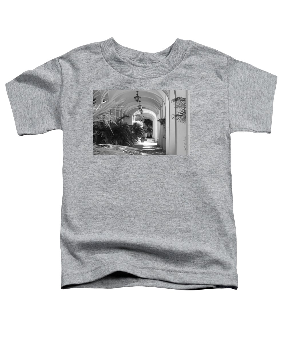 Architecture Toddler T-Shirt featuring the photograph Lighted Arches by Rob Hans