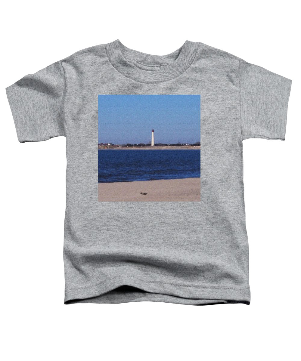 Lighthouse Toddler T-Shirt featuring the photograph Lighthouse At The Point by Pharris Art