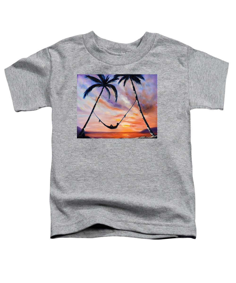Sunset Toddler T-Shirt featuring the painting Living The Dream by Gina De Gorna