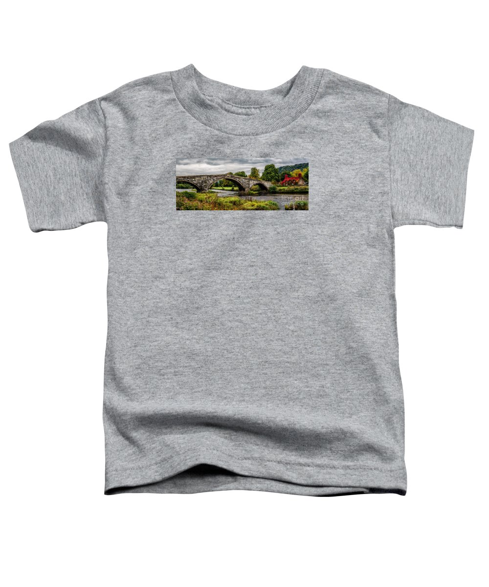 Llanrwst Bridge Toddler T-Shirt featuring the photograph Llanrwst Bridge Panorama by Adrian Evans