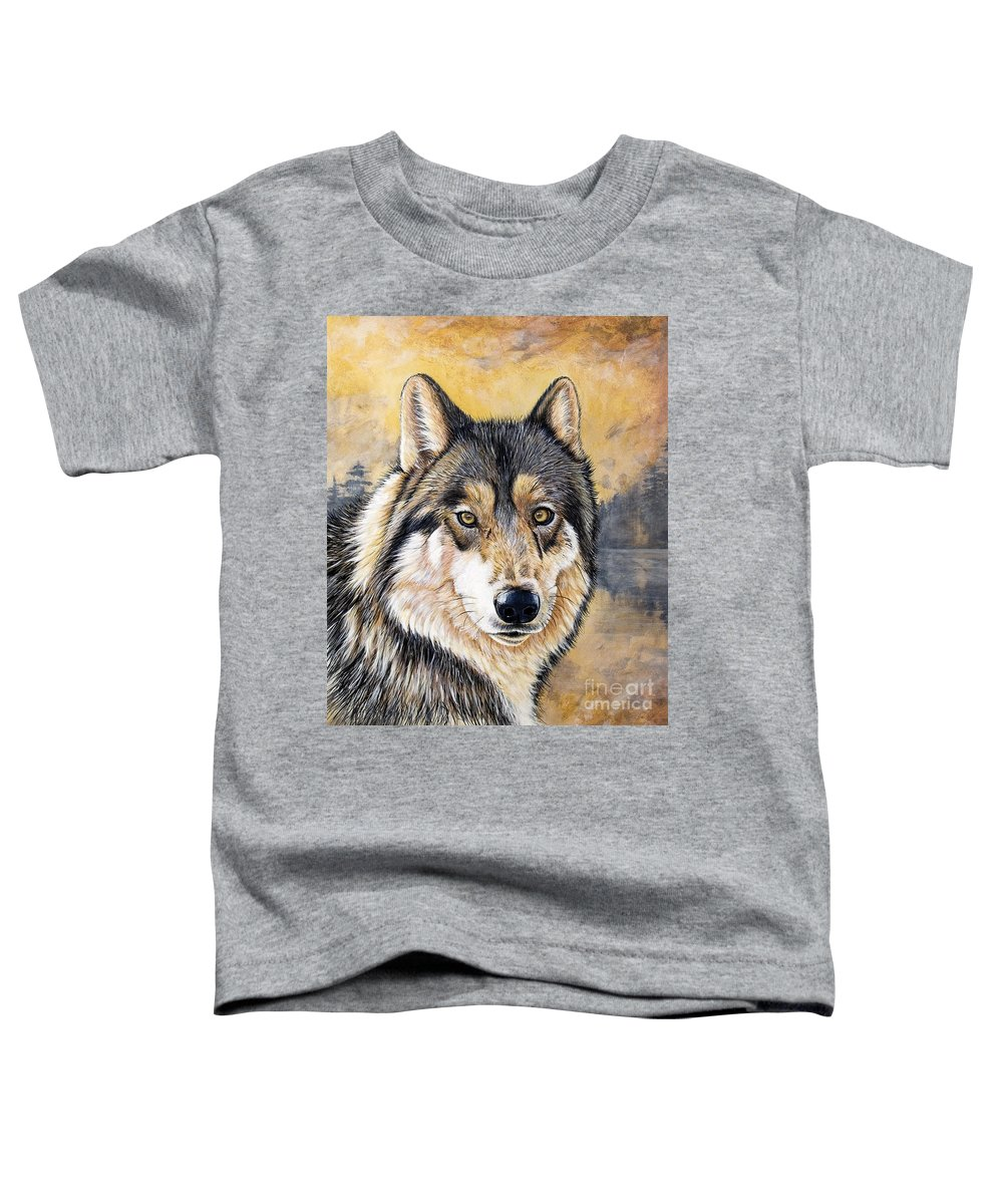 Acrylics Toddler T-Shirt featuring the painting Loki by Sandi Baker