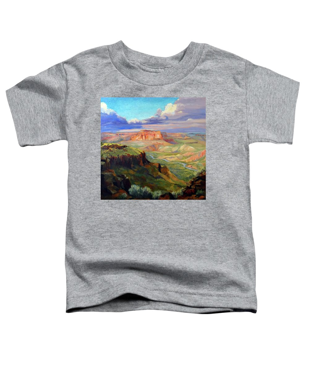 Landscape Toddler T-Shirt featuring the painting Look Out At White Rock by Nancy Paris Pruden
