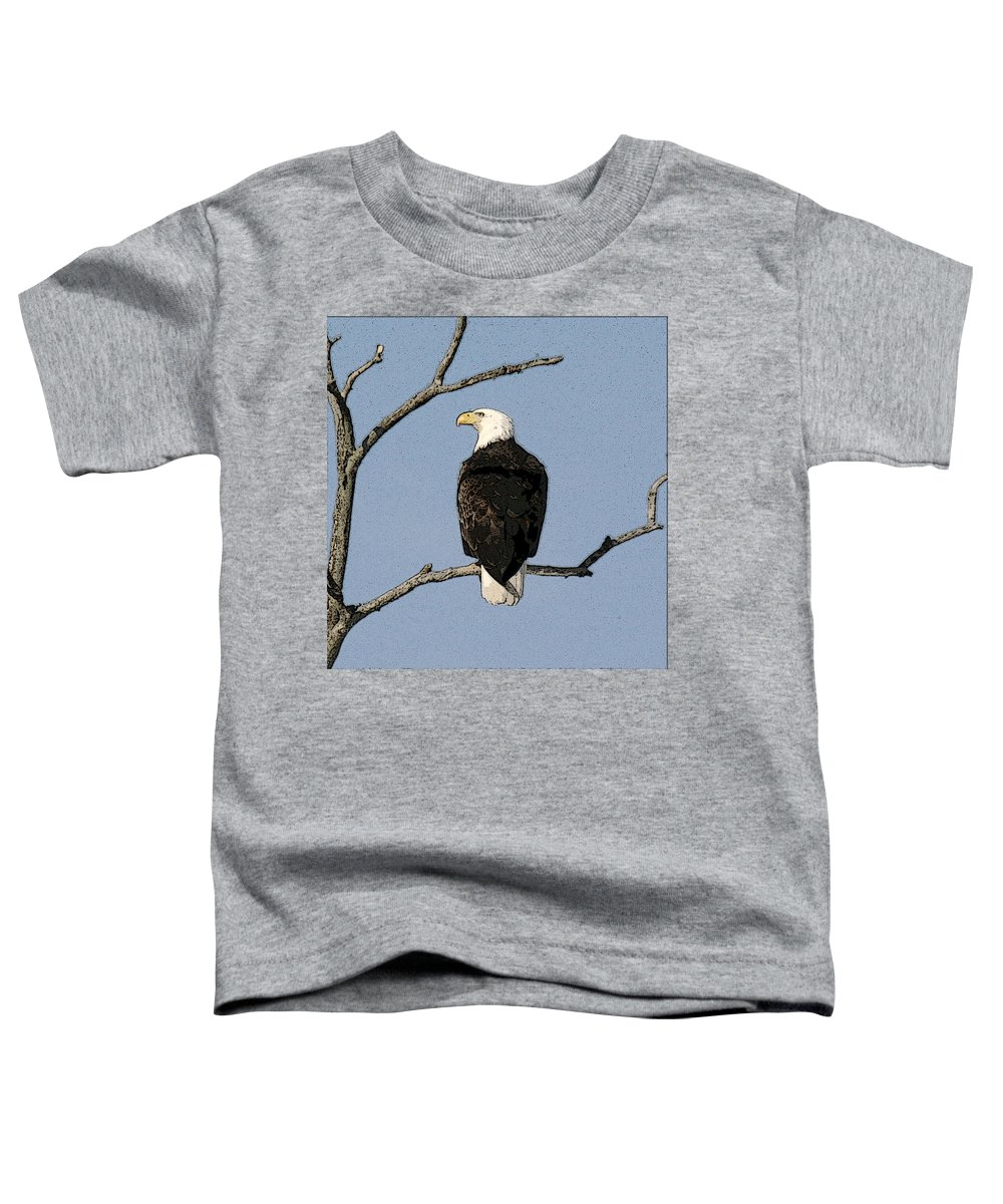 Eagle Toddler T-Shirt featuring the photograph Look Out by Robert Pearson