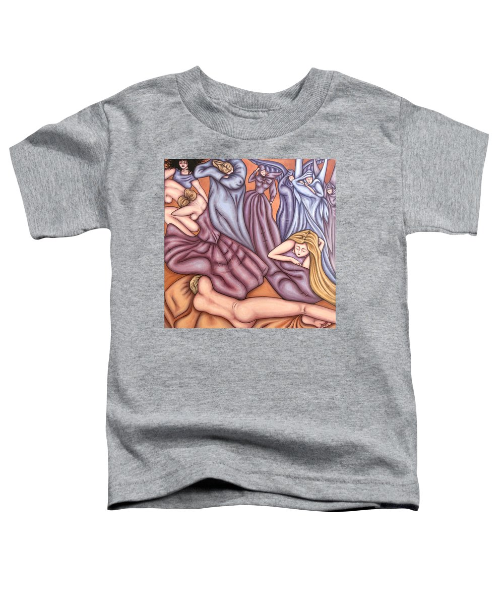 Mourning Toddler T-Shirt featuring the painting Loosing Charles by Judy Henninger