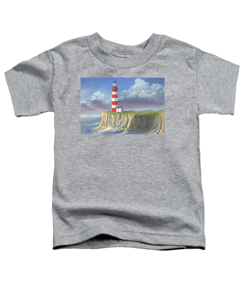 Light Toddler T-Shirt featuring the painting Lost Point Light by Jerry McElroy