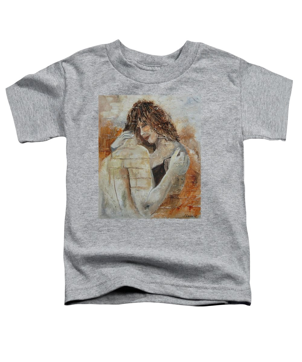 Girl Toddler T-Shirt featuring the painting Loving Couple by Pol Ledent