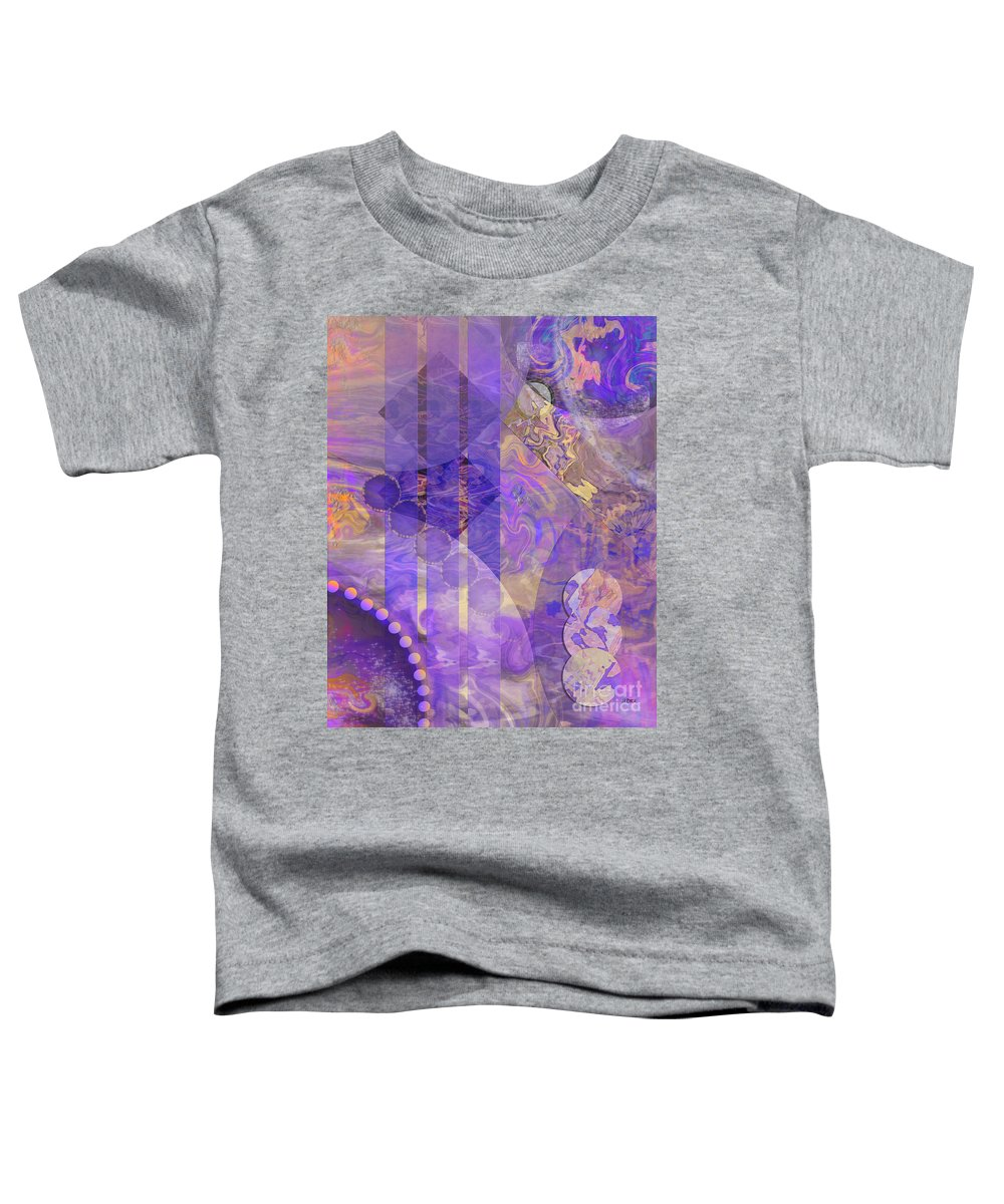 Lunar Impressions 2 Toddler T-Shirt featuring the digital art Lunar Impressions 2 by John Beck