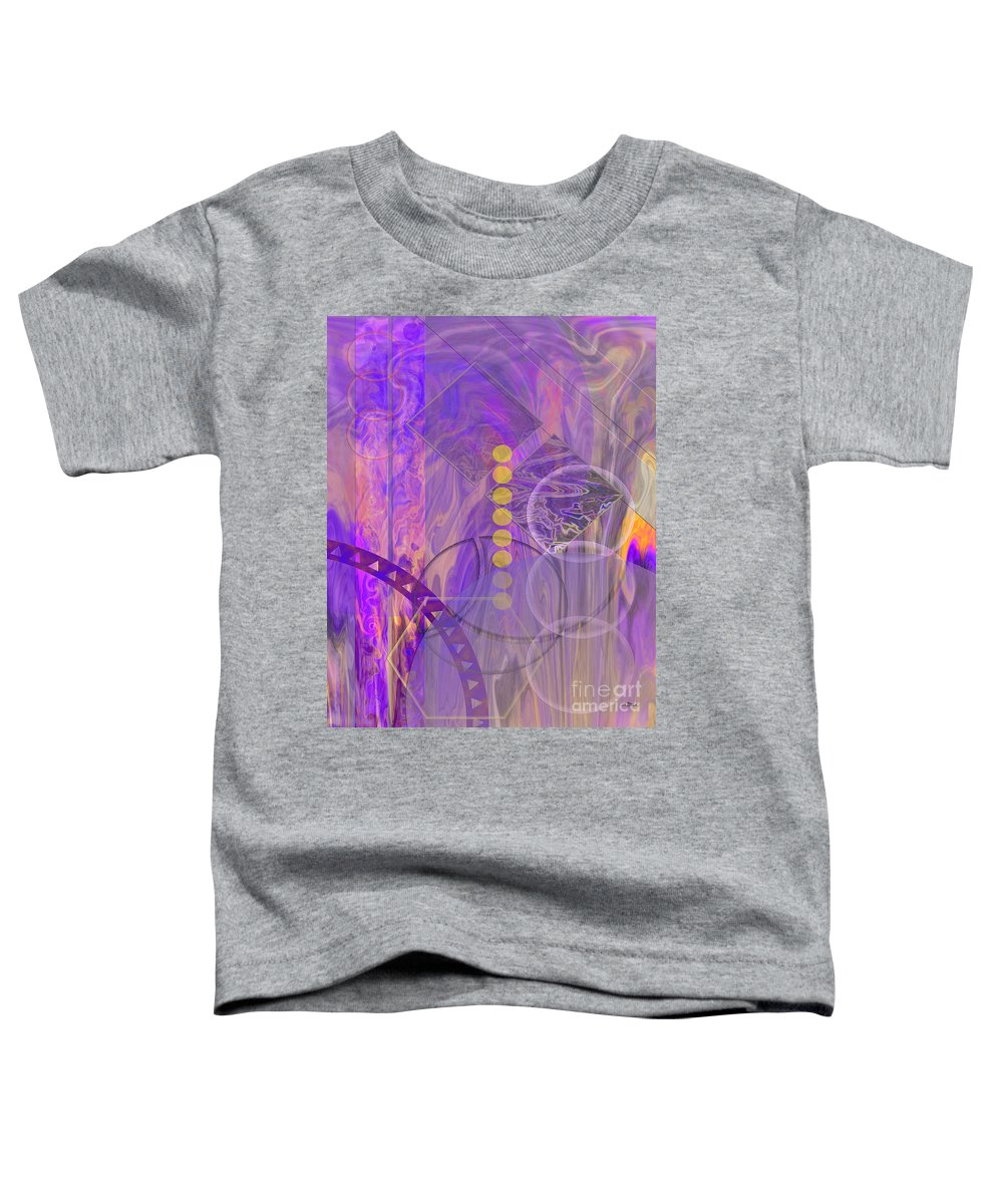 Lunar Impressions 3 Toddler T-Shirt featuring the digital art Lunar Impressions 3 by John Beck