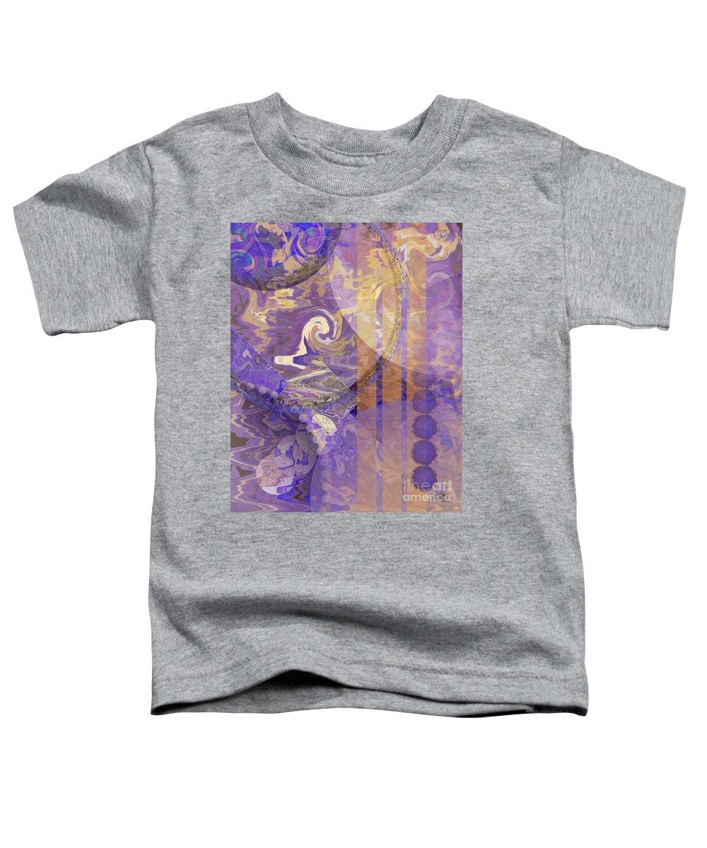 Lunar Impressions Toddler T-Shirt featuring the digital art Lunar Impressions by John Beck