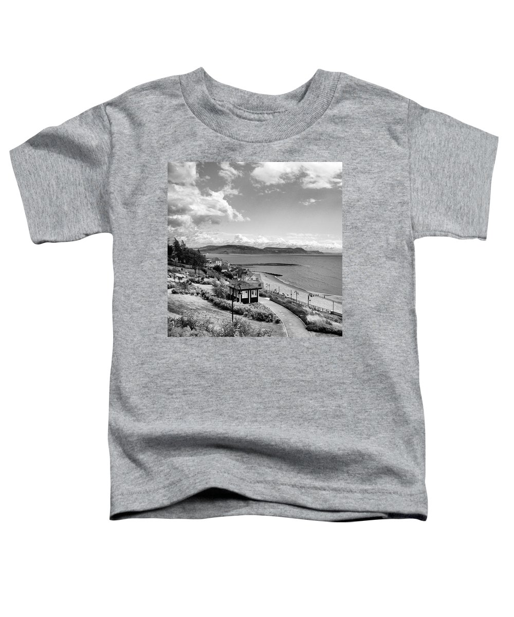 Blackandwhitephotography Toddler T-Shirt featuring the photograph Lyme Regis And Lyme Bay, Dorset by John Edwards