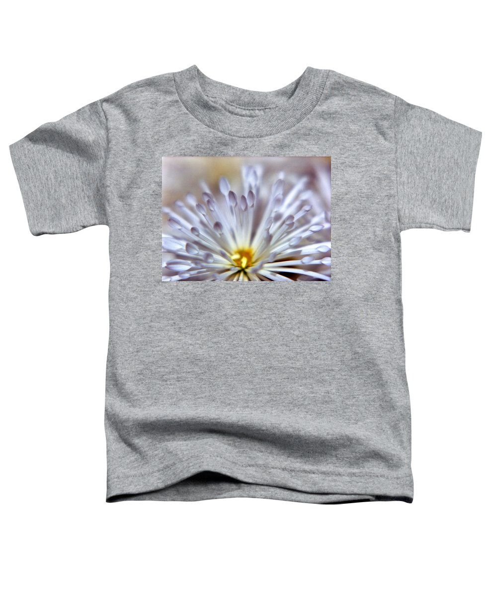 Macro Toddler T-Shirt featuring the photograph Macro Flower 3 by Lee Santa